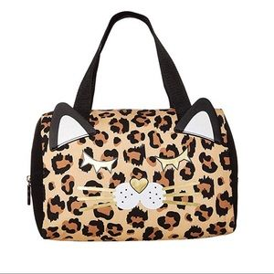 Betsy Johnson NEW Leopard Print Cat Lunch Tote